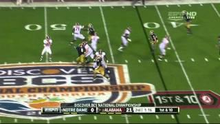 AJ McCarron vs Notre Dame (2012 Bowl)