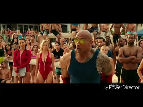 Baywatch The Rock Vs Zac Efron In Hindi By Best Movie Clips