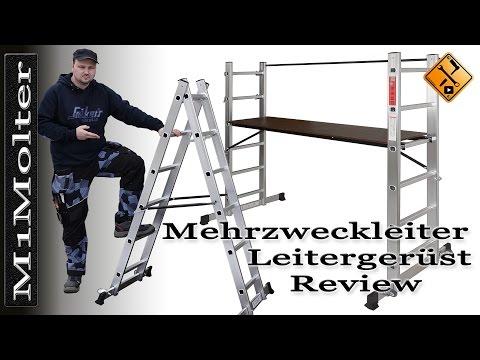 Aluminum Mehrzweckleiter - Kombileiter - Leitergerüst / Review von M1Molter