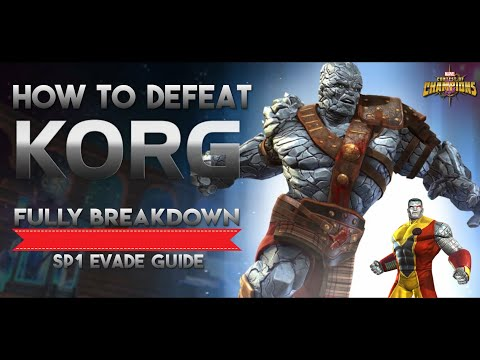 How To Defeat Korg Fully Breakdown - Marvel Contest Of Champions