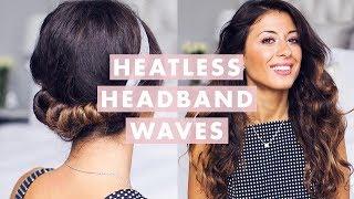 Heatless Headband Waves