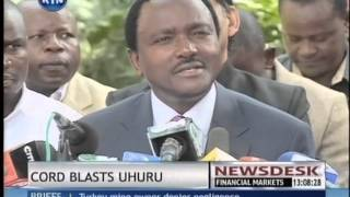 CORD Threatens To Mobilize Kenyans For Peaceful Demonstrations Over Jubilee Lies