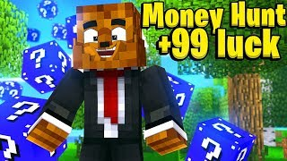 LUCKY BLOCK MONEY HUNT *DESTINY LUCKY BLOCKS* -Minecraft Modded Mini-Game
