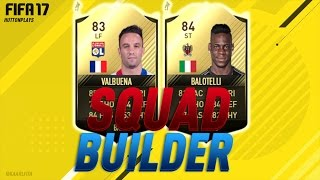 When this video was scheduled SIF Balotelli was 60-70k, he's now under 50k so I changed the title. :P FIFA 17 Squad Builder - 100% THE BEST INFORM STRIKER FO...