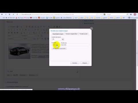 Honlap szövegszerkesztés, hivatkozás (link) készítés