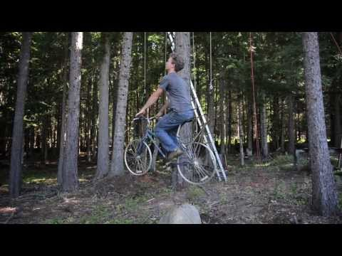 Bicycle Powered Tree House Elevator Video