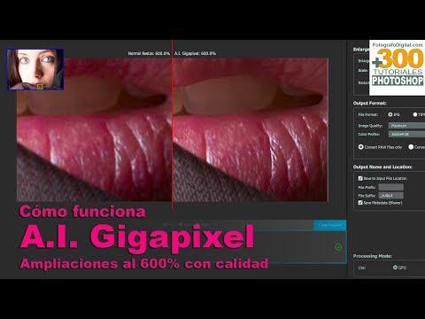 Tutorial de A.I. Gigapixel. Ampliar fotos sin perder calidad. Topz Lab. Tutorial en español