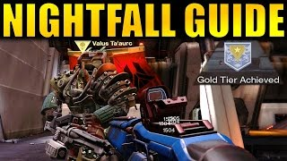 """The complete guide and walk through for the current Nightfall (March 7th - 14th), before Age of Triumph hits Destiny (Cerberus Vae III)! This guide will showcase how to beat the Nightfall, and also how to achieve the Gold Tier score to get the """"Gold Contender"""" Medal to complete the """"Sunrise"""" Bounty from Zavala (completing this bounty is how you get the Icebreaker Exotic Sniper Rifle!)The Strike specific loot for this strike is the Treads Upon Stars Scout Rifle.--- Official Merch: https://shop.bbtv.com/collections/kackishd--- My Twitter: https://twitter.com/RickKackis--- My Twitch Channel: http://www.twitch.tv/kackishd/profile"""