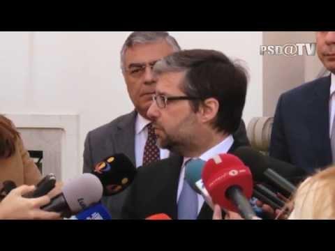 Marco António Costa após reunião com delegação do partido da oposição