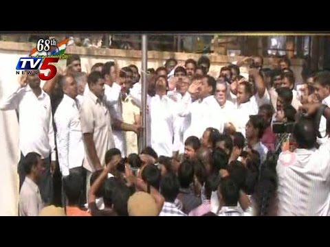 YS Jagan Hoisted National Flag @ YCP Office : TV5 News