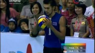 Thailand - Indonesia Men's Volleyball SEA Games 2011 Set 2