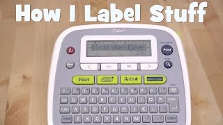 With a drawer full of cables, batteries and other accessories, it's pretty easy to loose track of stuff. Using a simple label maker you can get organized and keep track of everything.My label maker is the P-Touch PT-D200. However it's discontinued.The new model is the PT-D210https://www.amazon.com/Brother-P-Touch-PT-D210-Label-Maker/dp/B013DG2FNW/ref=sr_1_4?ie=UTF8&qid=1491370136&sr=8-4&keywords=pt-d200Follow me on Twitter @ToddsNerdCaveAlso you can now follow me on Facebook @ToddsNerdCave