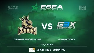 g3x vs Crowns, game 1