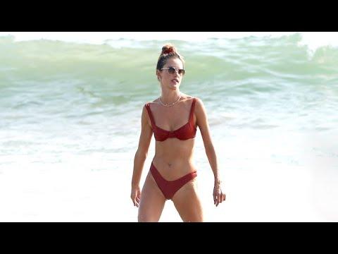 Alessandra Ambrosio's Supermodel Abs Glisten In The Malibu Sun