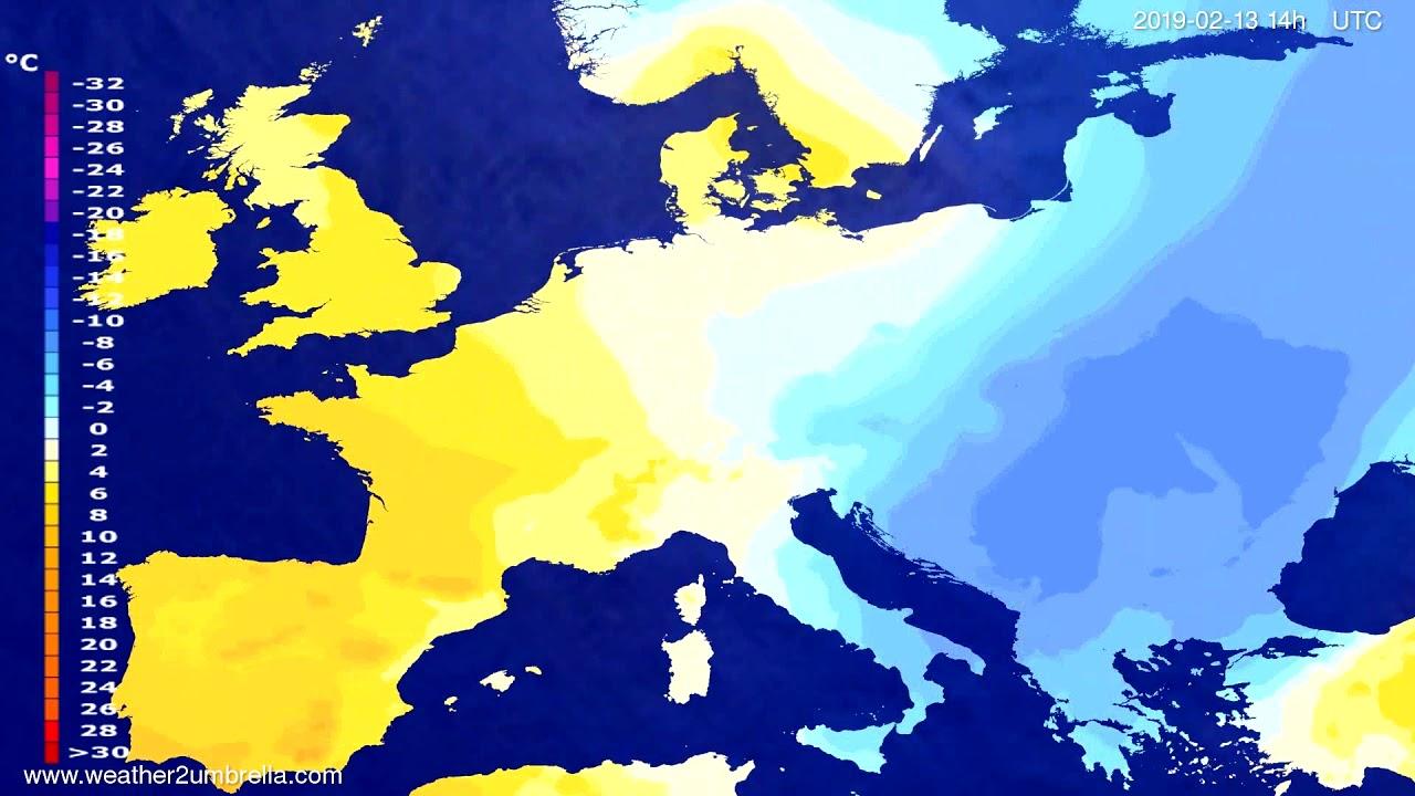Temperature forecast Europe 2019-02-11
