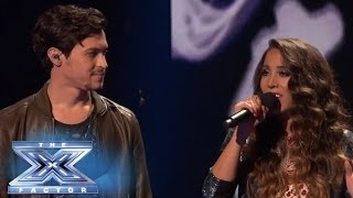 "Top 3: Alex&Sierra Sing ""Bleeding Love"" with Leona Lewis - THE X FACTOR USA 2013"