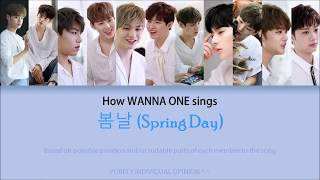 """Video How Wanna One Sings """"봄날 (Spring Day)"""" + Line Distribution MP3, 3GP, MP4, WEBM, AVI, FLV Maret 2018"""