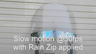 10. Rain Zip test on Indian Chief Vintage windscreen