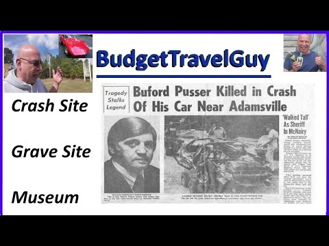 🚔Walking Tall 🚔 Buford Pusser Crash Site, Grave Site, and Museum