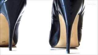 The Sound Of Heels #1 - Classic Black Patent High Heels - On Floor Of A Hall [ASMR]