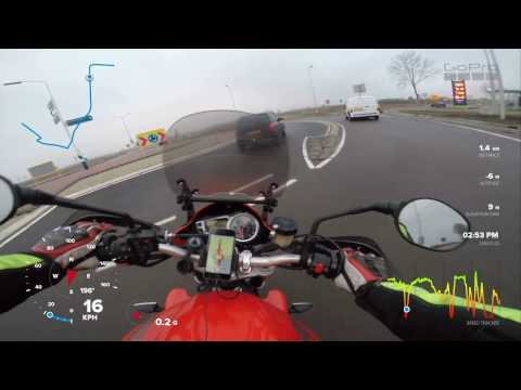Near- accident with motorcycle