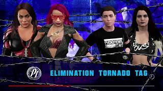 Elimination Tornado Tag Match with Custom Divas Ashley Steel & Paige Heel VS Sasha Banks & Nia Jax