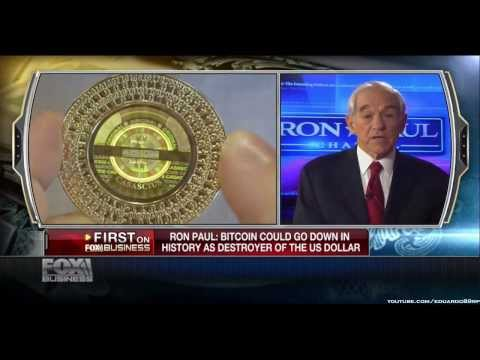 ronpaul - Former Rep. Ron Paul, (R-Texas), on the future of Bitcoins and the Federal Reserve.