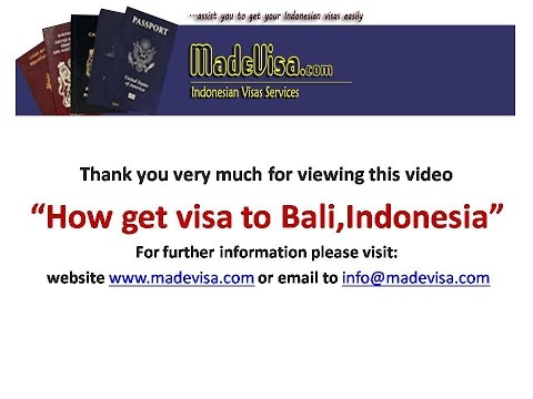 How to get VISA to Bali, Indonesia easily