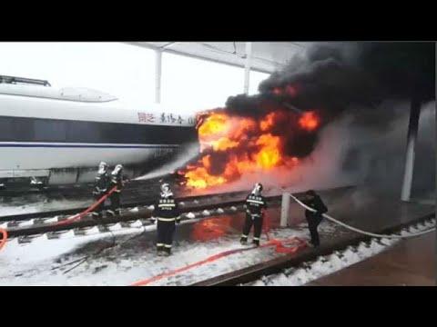 Κίνα: Τρένο τυλίχτηκε στις φλόγες