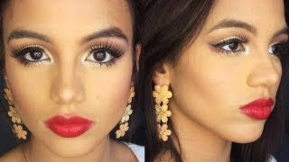 GLAMOROUS PROM 2014 MAKEUP LOOK! + (prom photoready foundation routine)