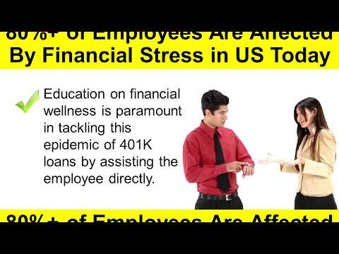 How Financial Stress Affects Employee Retirement Savings Plans And Employer's Bottom Line