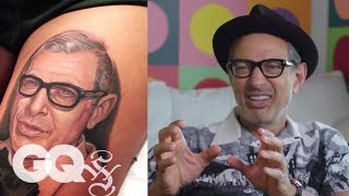 Jeff Goldblum Reviewing Tattoos Of Himself Will Make Your Day