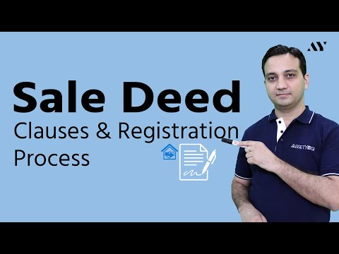 Sale Deed - Explained with complete Registration Procedure