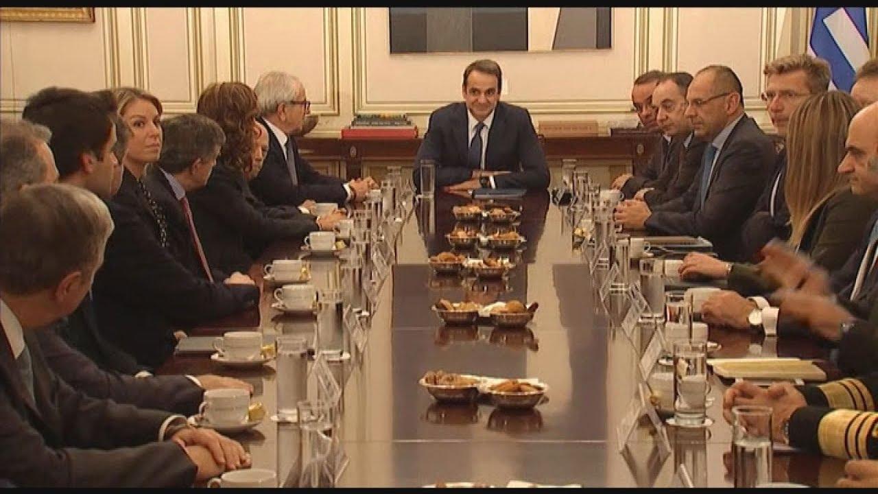 Συνάντηση του πρωθυπουργού με τα μέλη της αντιπροσωπείας της Ένωσης Ελλήνων Εφοπλιστών