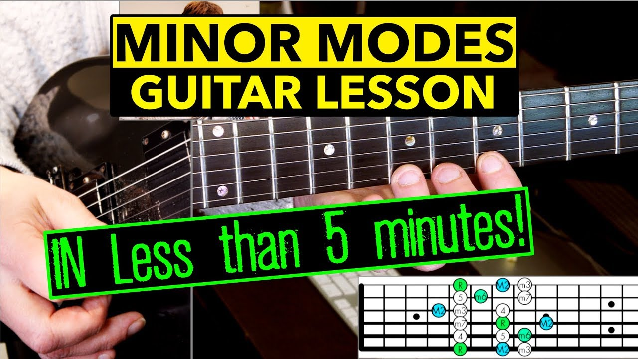 Guitar Scales: Dorian, Aeolian, And Phrygian Mode in less than 5 minutes!