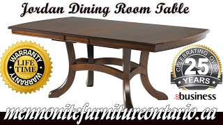 Mennonite Jordan Dining Room Table