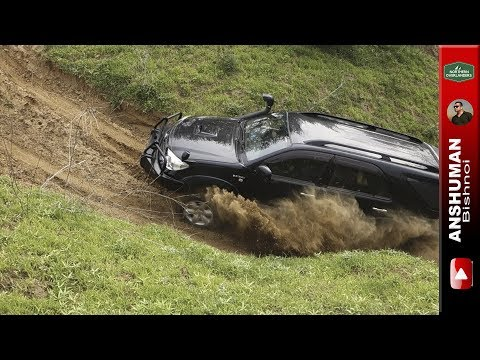 Toyota Fortuner & Mahindra Thar CRDe- Trying Some Difficult Offroad Climbs
