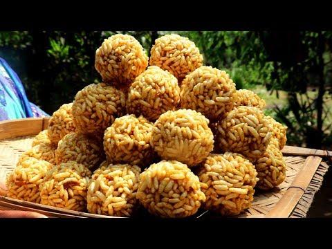 BANGALI MURIR MOYA !!! Perfect Process to Make Puffed Rice Moya in Village Style