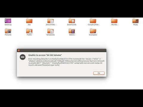 Error mounting /dev/sda3 at /media/ubuntu/