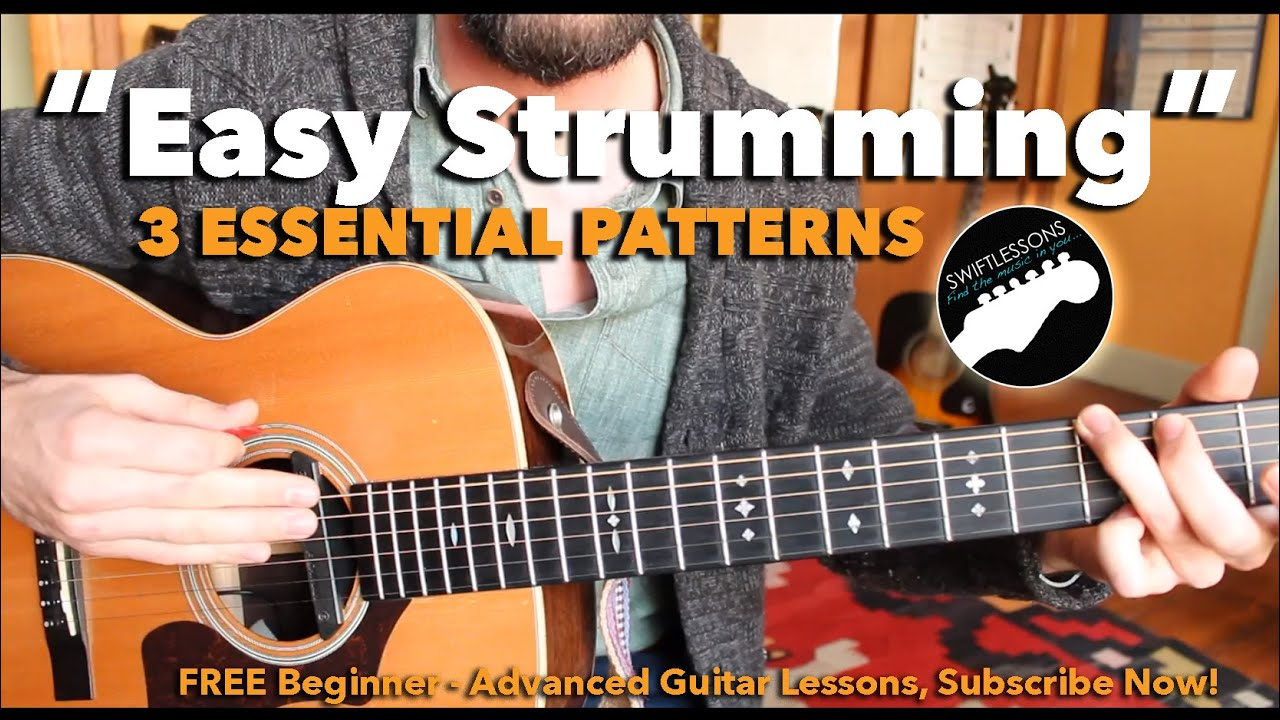Beginner Guitar Lesson – 3 Easy Strumming Patterns You Must Know