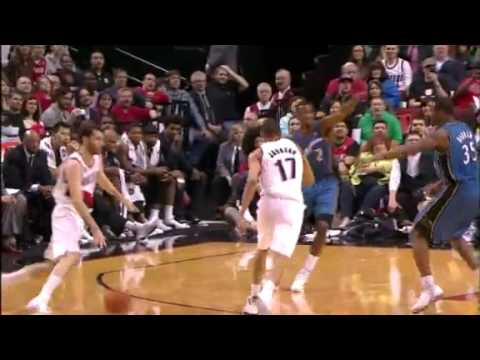 Rudy Fernandez to Chris Johnson's Alley-Oop