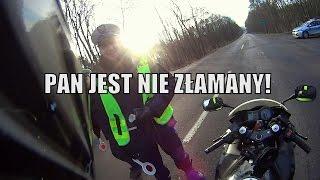Polska policja jak chce to potrafi… kontrola trzeźwości motocyklisty…