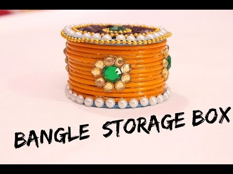 Video How to make storage box  from old waste bangles I Convert bangles into box I DIY I Creative Diaries download in MP3, 3GP, MP4, WEBM, AVI, FLV January 2017