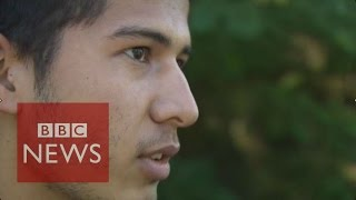 Refugee wheeled grandmother from Afghanistan to Hungary - BBC News