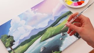 Video How to Paint a Cute Landscape MP3, 3GP, MP4, WEBM, AVI, FLV Desember 2018