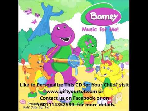 Personalized Music CD-Barney Music For Me