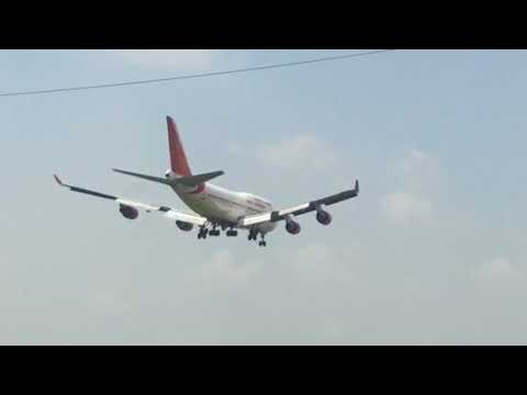 Video Air India Boeing 747 landing in Nagpur, India download in MP3, 3GP, MP4, WEBM, AVI, FLV January 2017