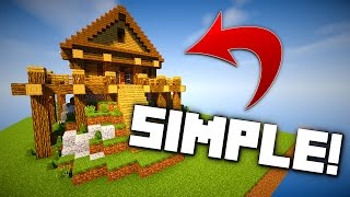 Minecraft: How to Build A Simple Wooden House - Tutorial!