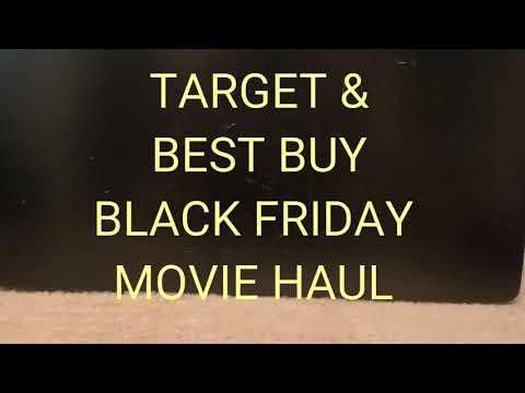 BEST BUY / TARGET BLACK FRIDAY DVD/ BLU RAY MOVIE HAUL