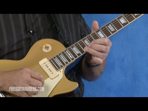 learn blues guitar - Learn a guitar lick to play over a slow blues progression. View the tabs at http://www.freeguitarvideos.com/LJ_Bl/slow-blues-lick.html.
